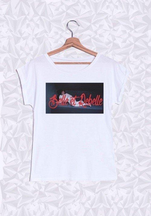 Belle et rebelle T-shirt Femme Manches retroussées