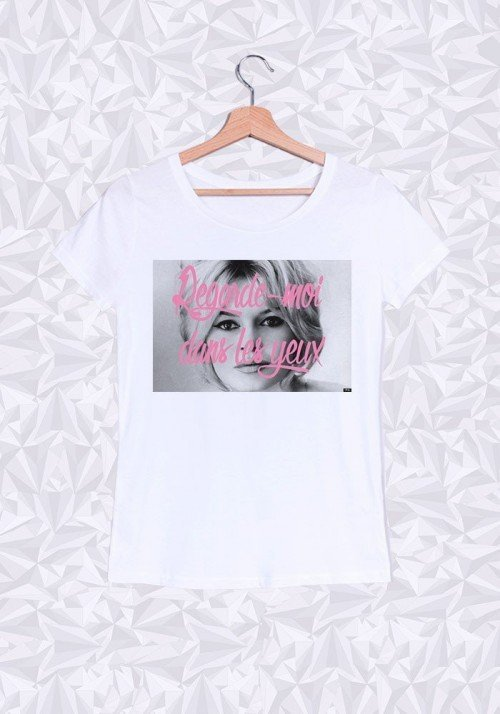 Brigitte Badot Yeux T-shirt Femme Col Rond