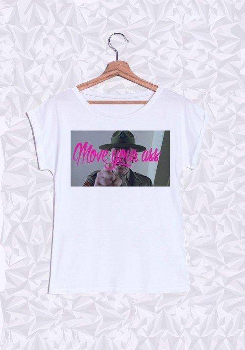 Move Your Ass T-shirt Femme Manches retroussées
