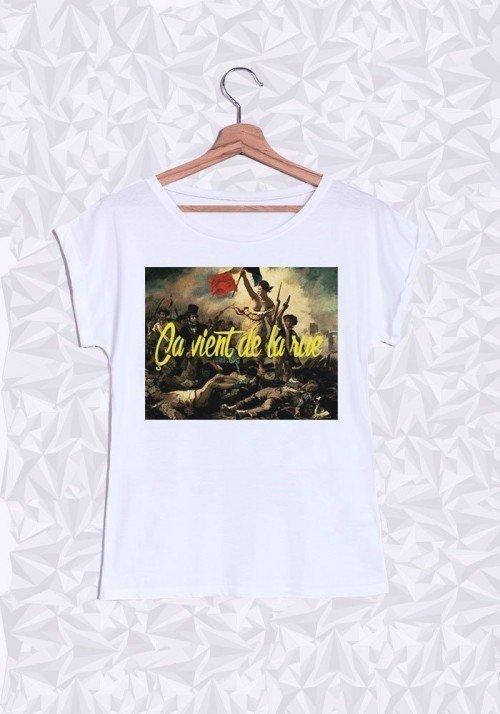 Révolution Française T-shirt Femme Manches retroussées