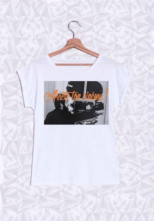 Kubrick Cinéma T-shirt Femme Manches retroussées