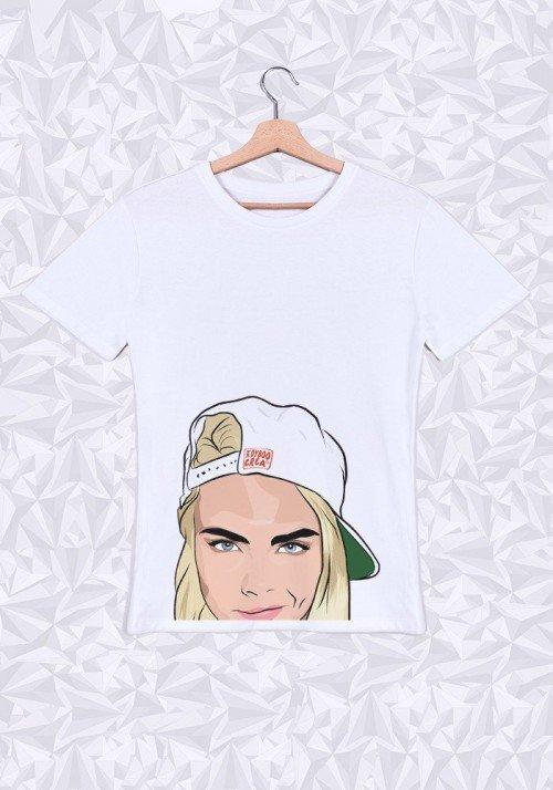 Cara Delevingne  T-shirt Homme Col Rond