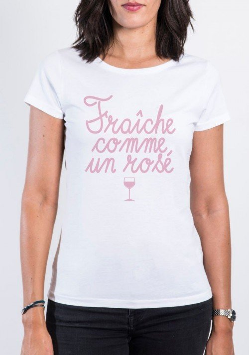 Fraiche comme un rosé T-shirt Femme