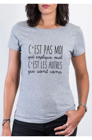 Pas moi T-shirt Femme Col Rond