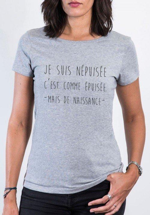 Népuisée T-shirt Femme Col Rond