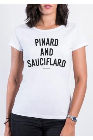 Pinard and Sauciflard T-shirt Femme Col Rond
