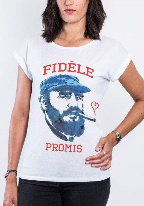 Fidèle T-shirt Femme Manches Retroussées