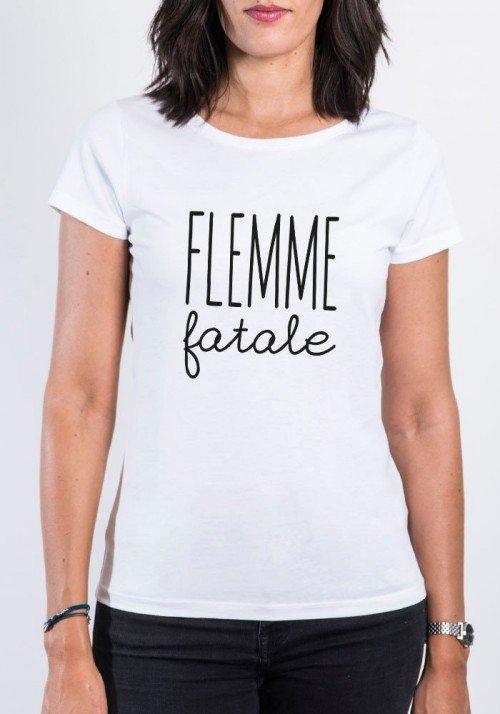 Flemme Fatale T-shirt Femme Col Rond