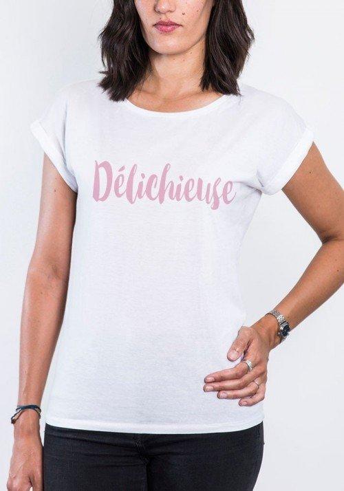 Délichieuse T-shirt Femme Manches retroussées