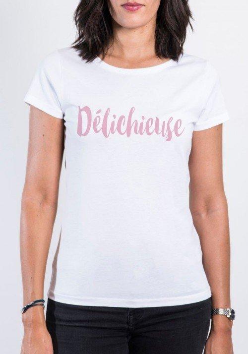 Délichieuse T-shirt Femme Col Rond