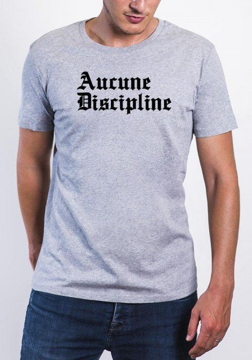 Aucune Discipline T-shirt Homme Col rond