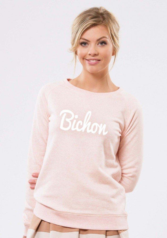 Bichon Rose Sweat Femme