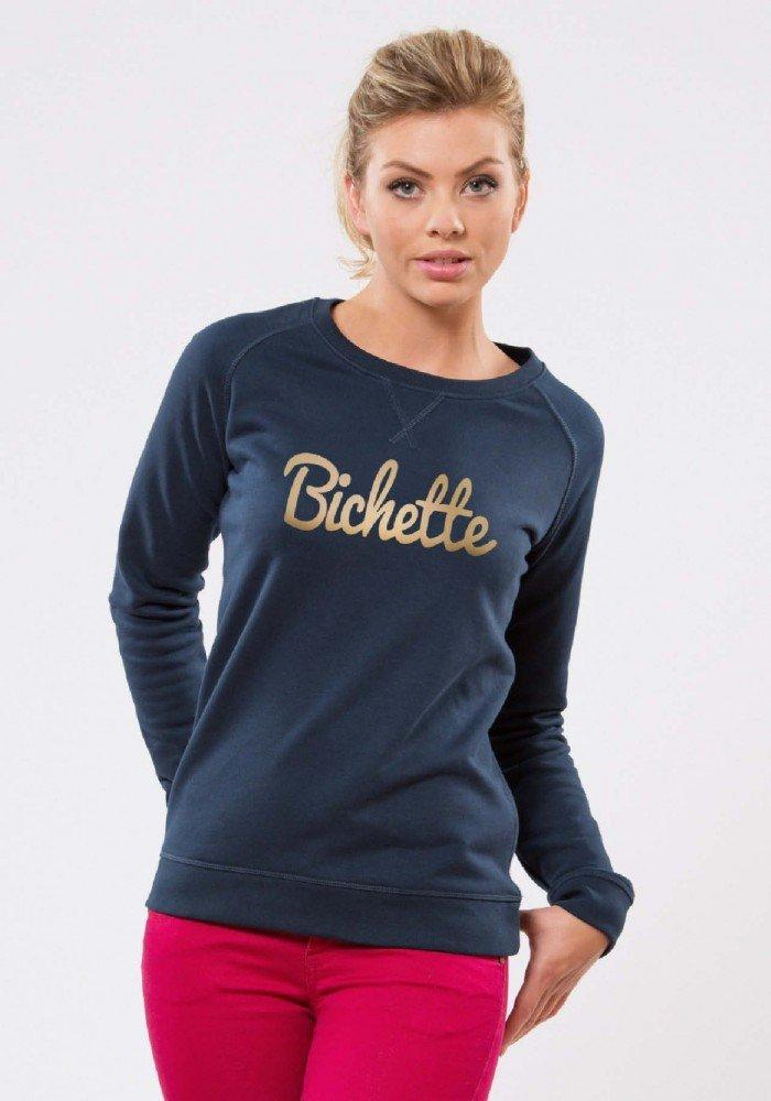 Bichette Navy Or Sweat Femme