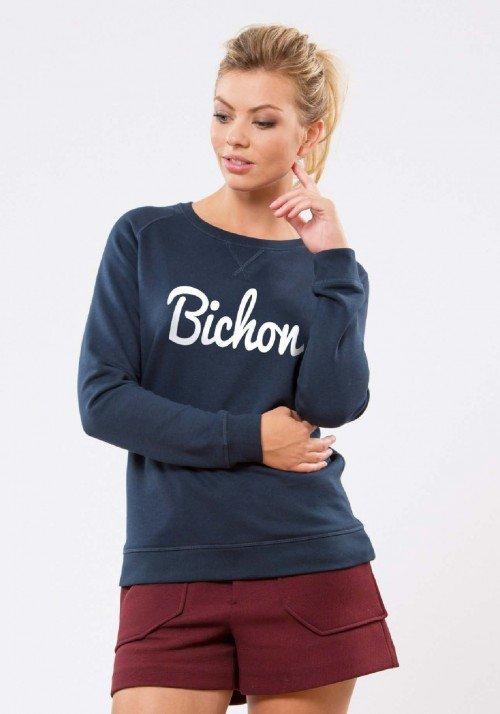 Bichon Navy Sweat Femme