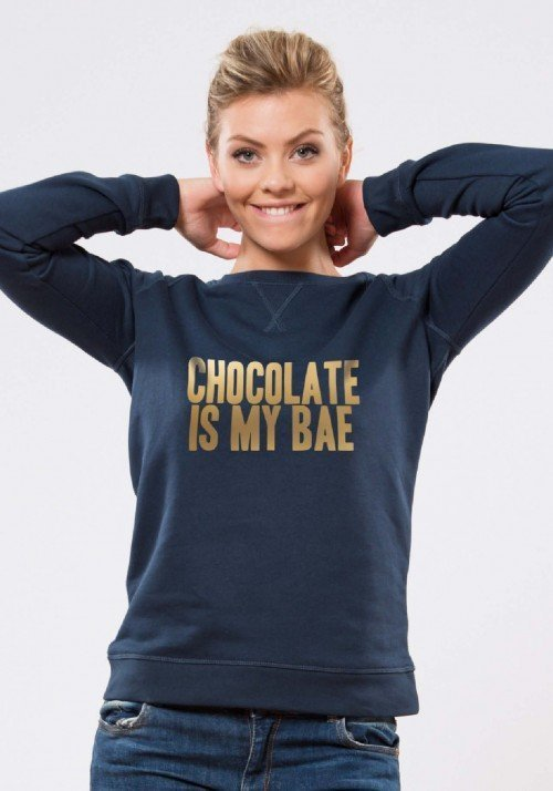 Chocolate is my Bae Navy Or Sweat Femme