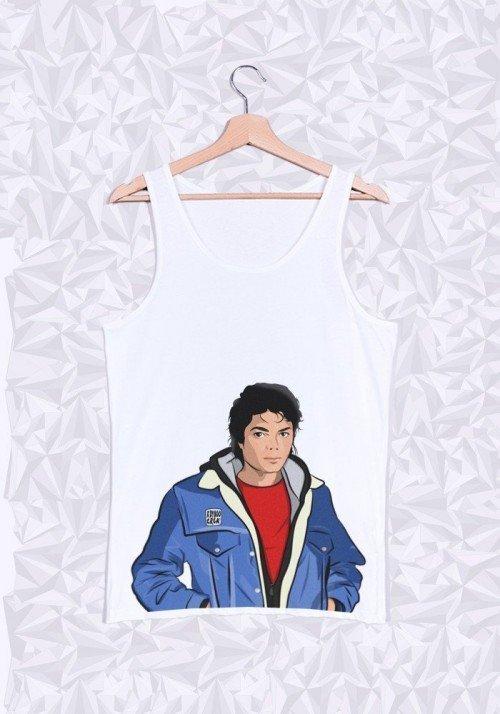 Michael Jackson Buste Débardeur Homme