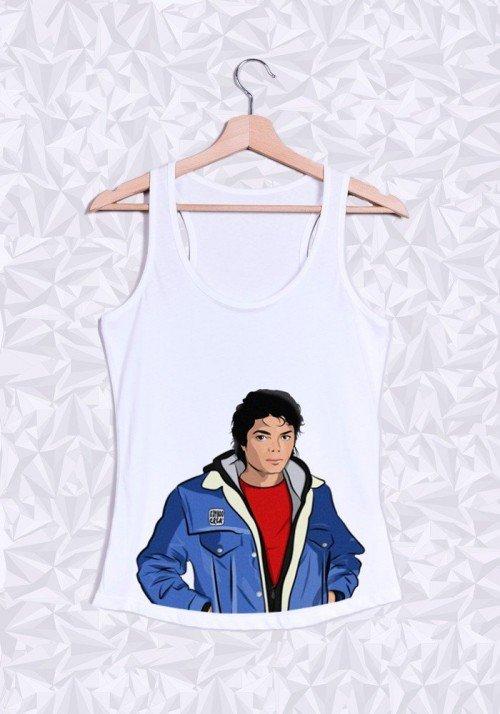 Michael Jackson Buste Débardeur Femme