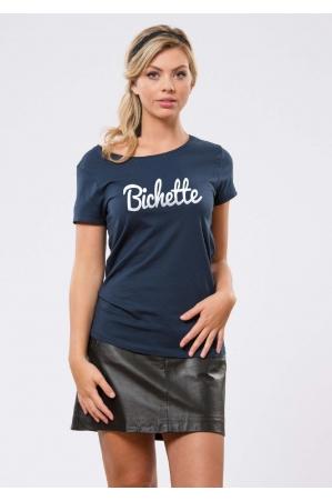 Bichette Navy T-shirt Femme