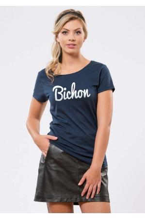 Bichon Navy T-shirt Femme