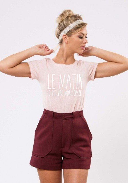 Le Matin c'est pas mon Copain T-shirt Femme