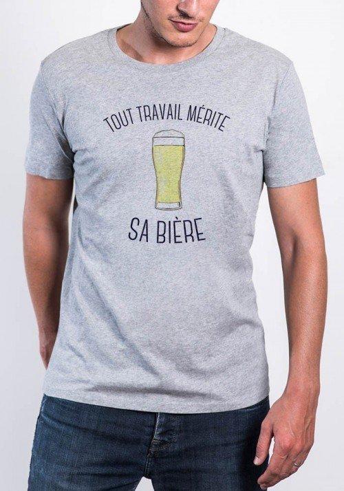 Tout travail mérite sa bière T-shirt Homme Col Rond