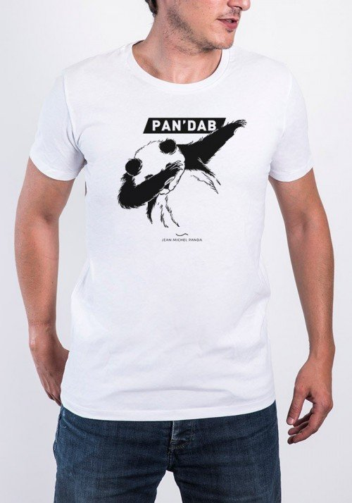 Pandab T-shirt Homme Col Rond