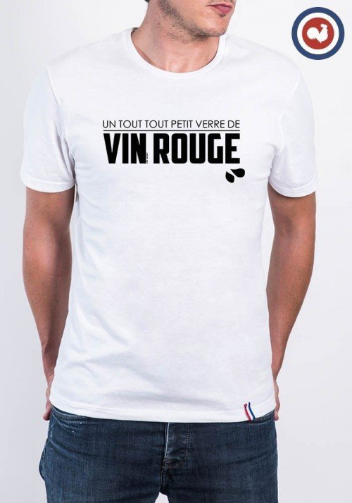 Verre de Rouge T-shirt Made in France