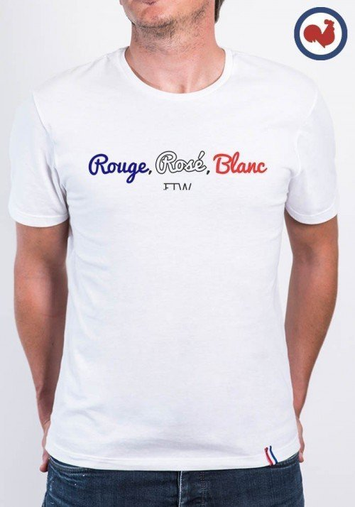 Rouge Rosé Blanc T-shirt Made in France