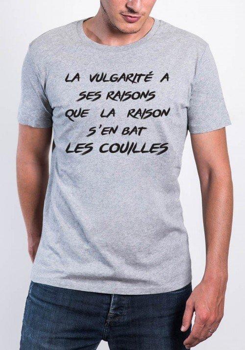 La Vulgarité à ses Raisons T-shirt Homme Col Rond