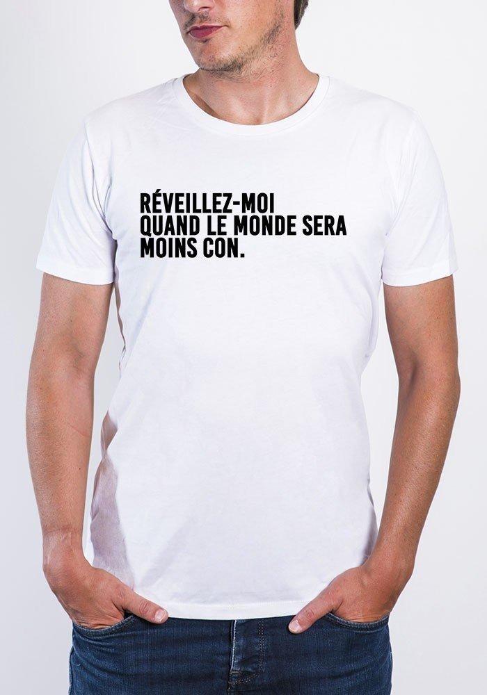 Réveillez moi quand e monde ... T-shirt Homme