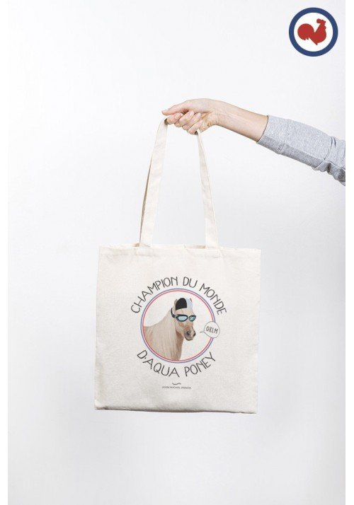 Champion du monde d'aqua poney Totebag Made in France