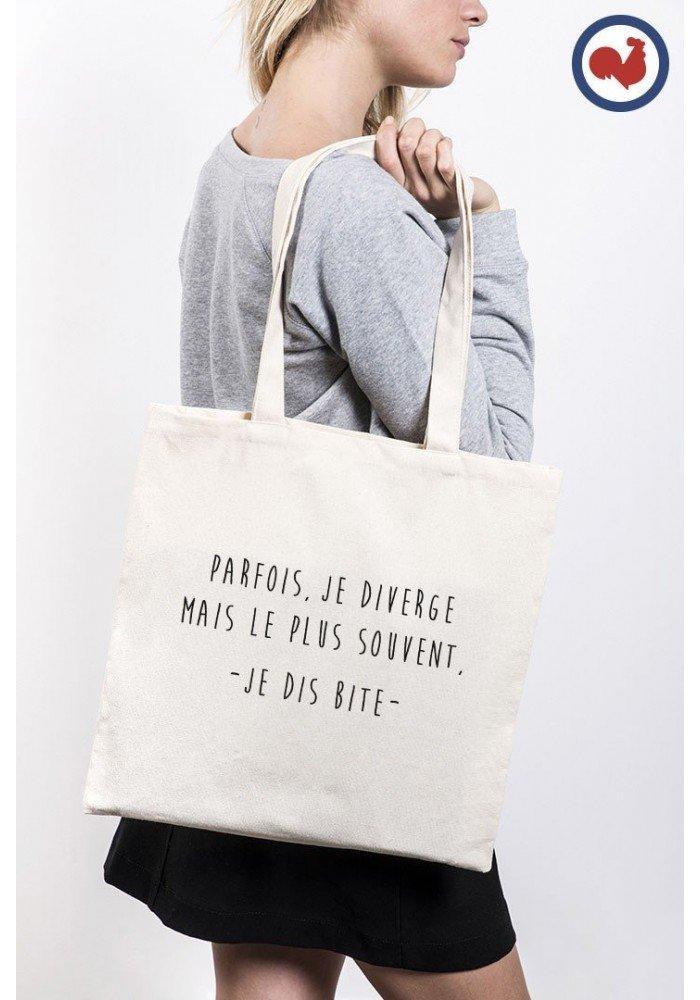 Tote Bag Je diverge