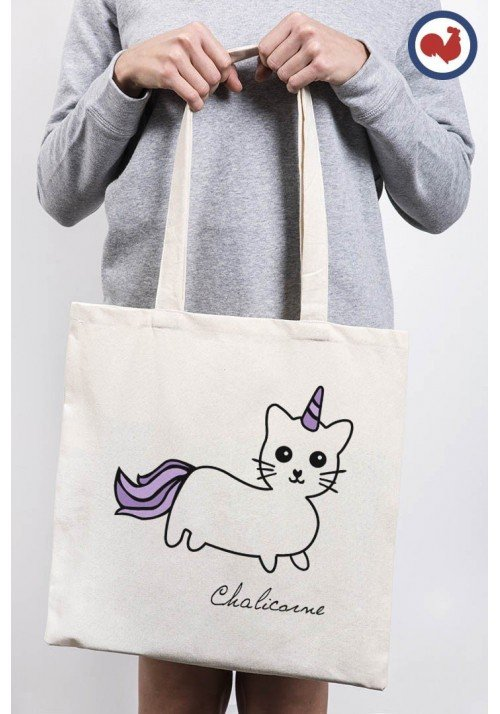 Chat Licorne Totebag Made in France