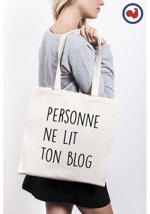 Personne ne lit ton Blog Tote Bag Made in France