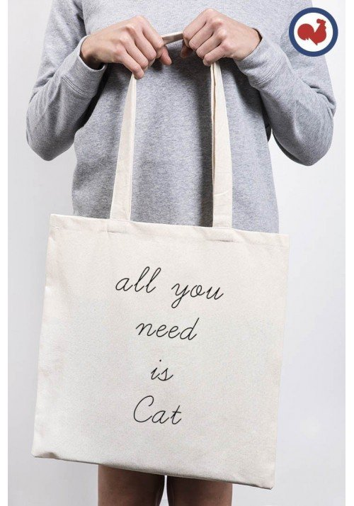 All you Need Is Cat Totebag Made in France