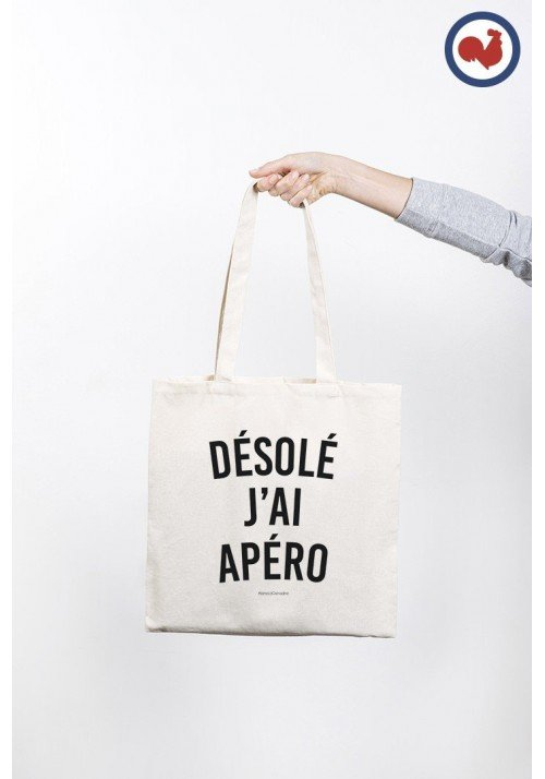 Désolé j'ai Apéro Totebag Made in France