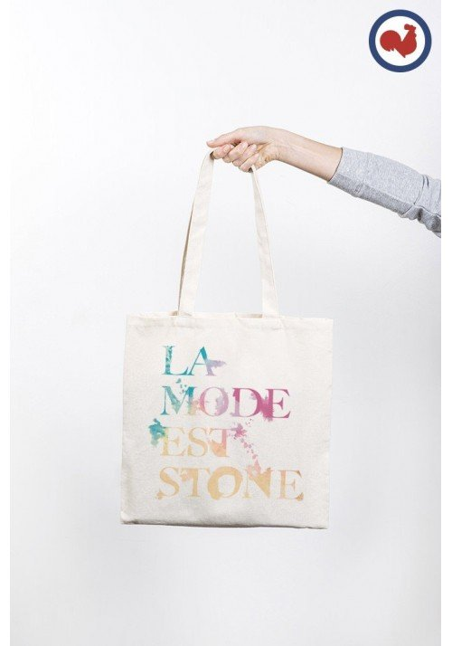 La Mode est Stone Totebag  Made in France