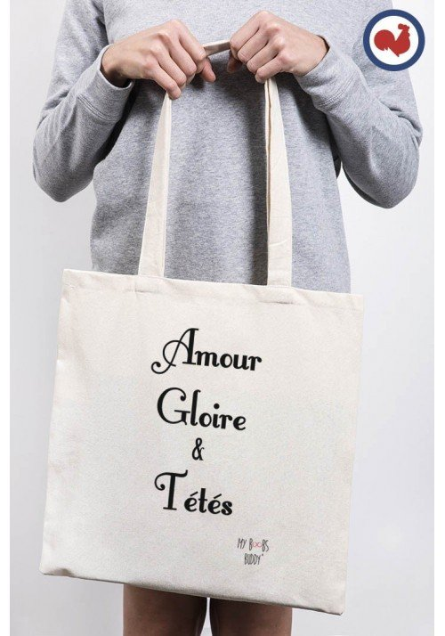 Amour Gloire et Tété Totebag Made in France