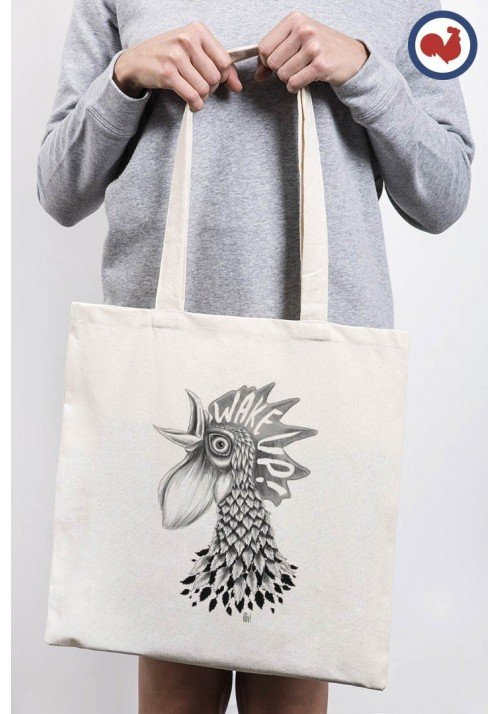 Wake Up Totebag Made in France