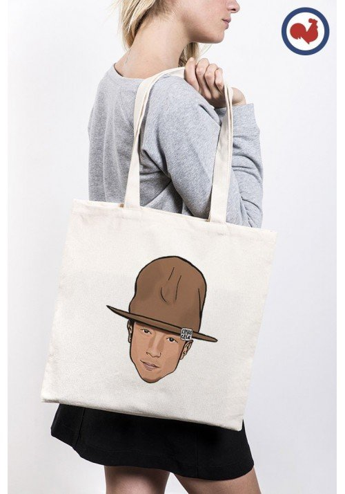 Pharrell Head Totebag Made in France