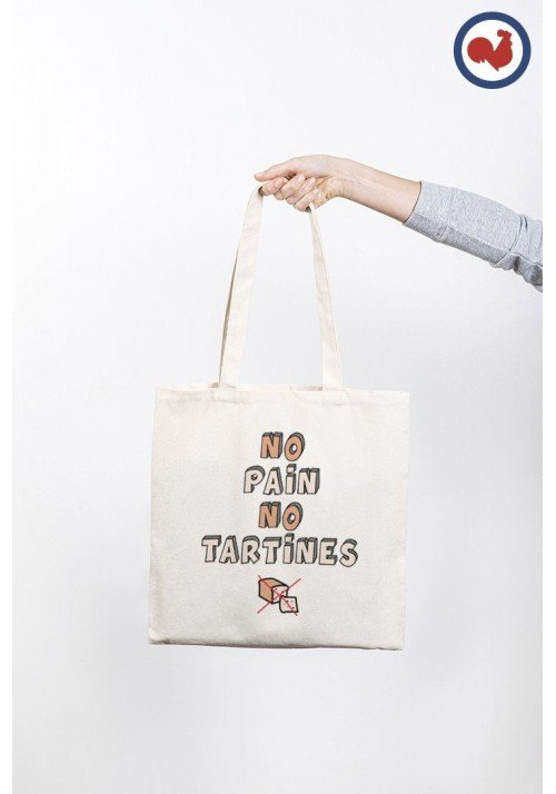 No Pain No Tartines Totebag Made in France