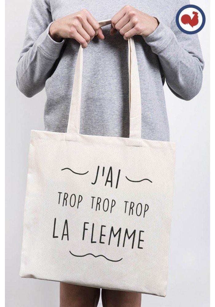 Tote Bag J'ai trop la Flemme