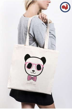 Panda nœud pap Totebag Made in France