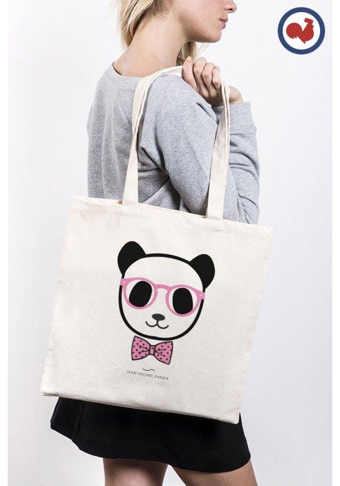 Tote Bag Panda noeud pap