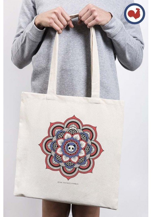 Mandala Panda Totebag Made in France