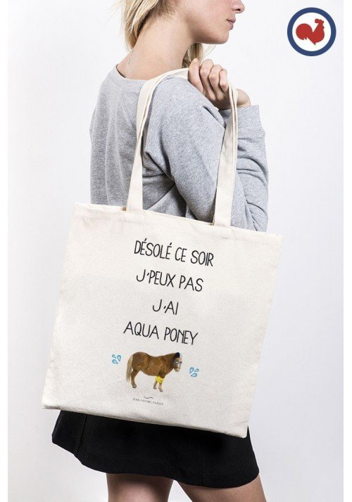 Tote Bag Aqua Poney