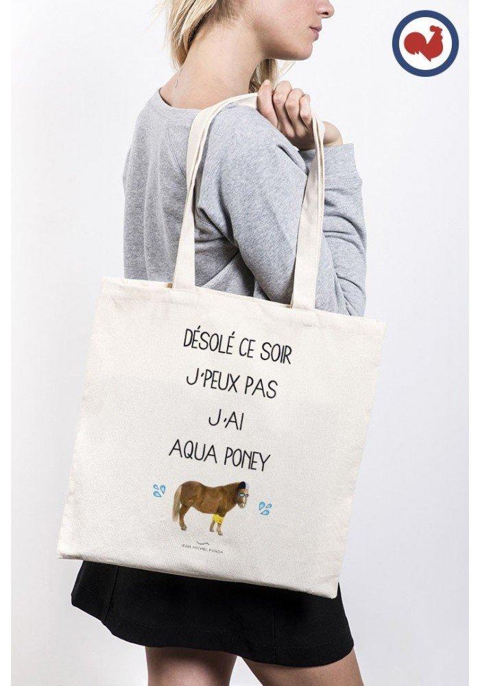 Tote Bag Aqua Poney