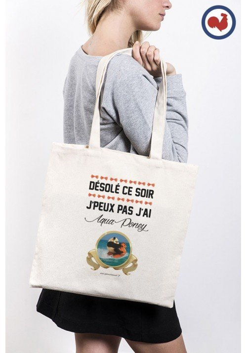 Aqua Panda Totebag Made in France