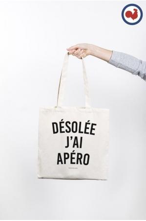 Désolée j'ai Apéro Totebag Made in France