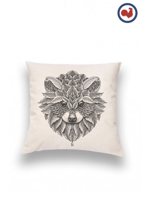 Racoon Coussin Made in France Bio